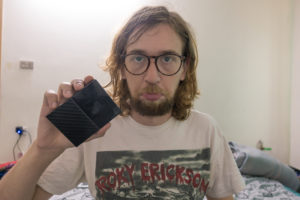 Ich mit kaputter Festplatte